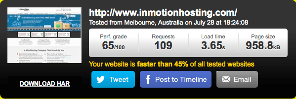 Inmotion-Hosting-speed-test