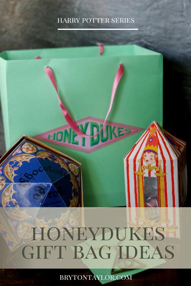 Honeydukes Gift Bag Ideas Harry Potter Hogwarts Dinner