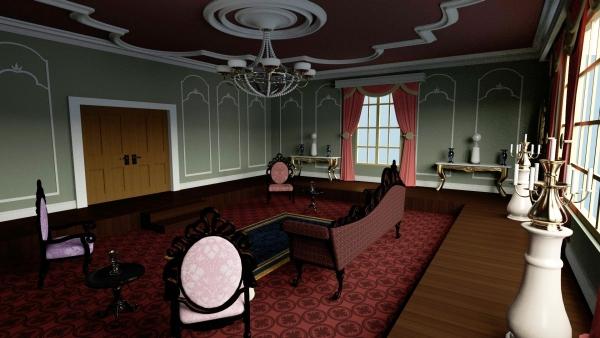 3D victorian sitting room for Daz studio and Poser  inLite studio  inLite studio 3D store
