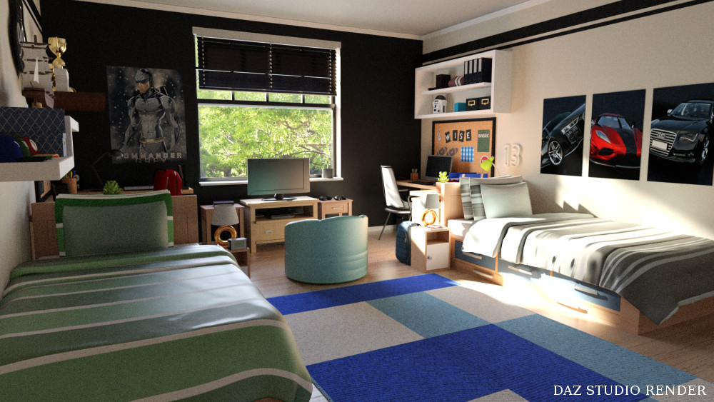 Boys Dorm Room  inLite studio 3D store