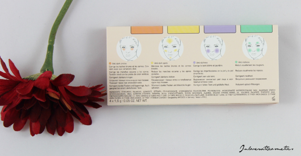 Camouflage Make-up Artdeco Most Wanted Color Correcting Palette Benutzung