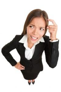 Thinking people - businesswoman