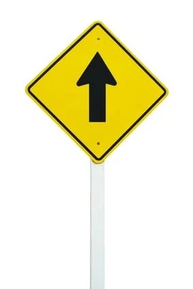 Go straight direction traffic sign isolated