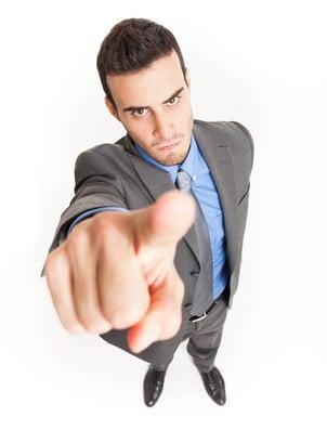 Businessman blaming you