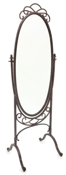 Ornate Standing Mirror Over White