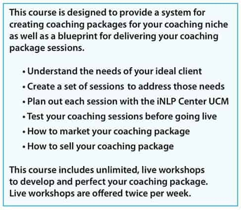Coaching Package benefits