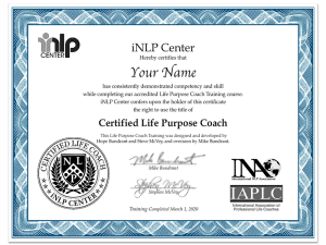 Life Purpose Coach Training