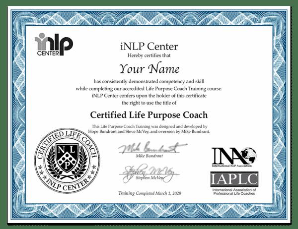 Life Purpose Coach Training