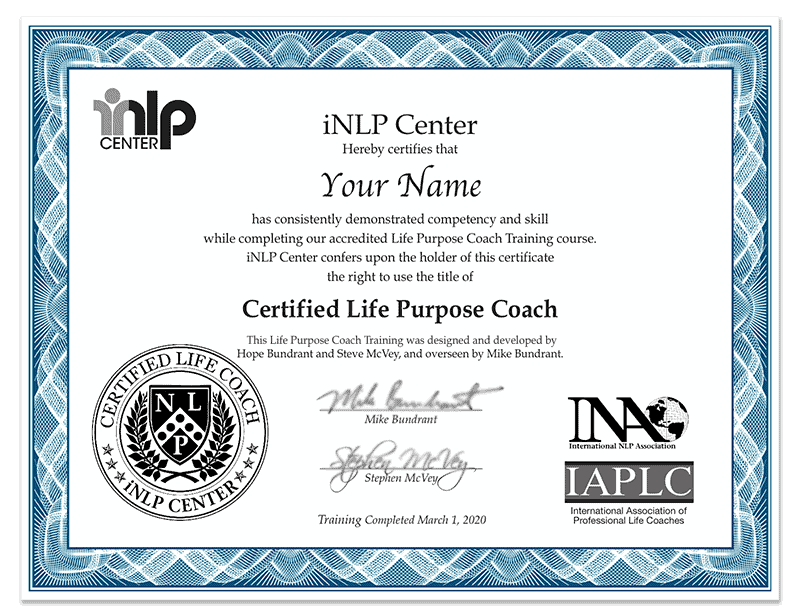 Life Purpose Coach Specialty Certification Training