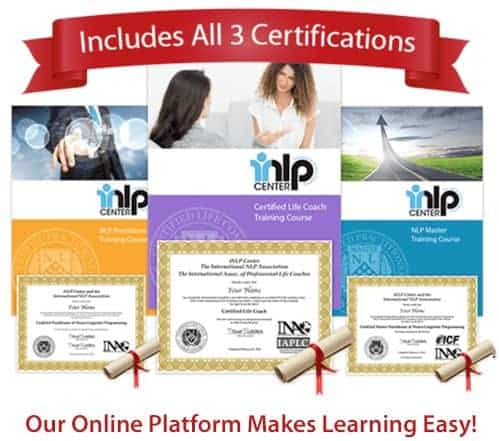 Online Life Coach Certification Training includes NLP certifications