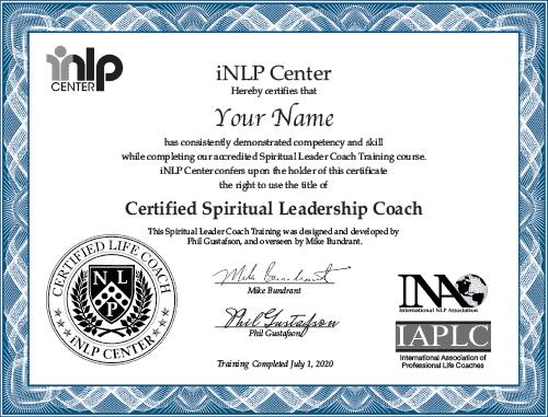 Spiritual Leader Coach Certificate