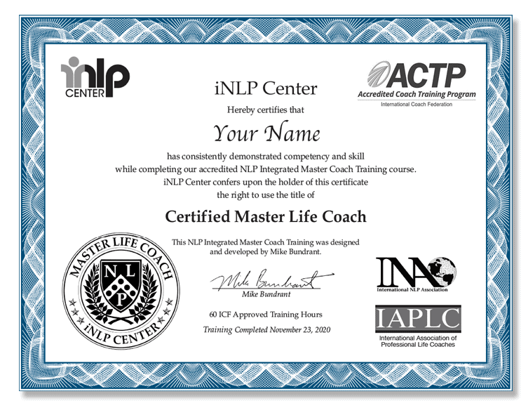 ACTP Master Coach Training & Certification for PCC