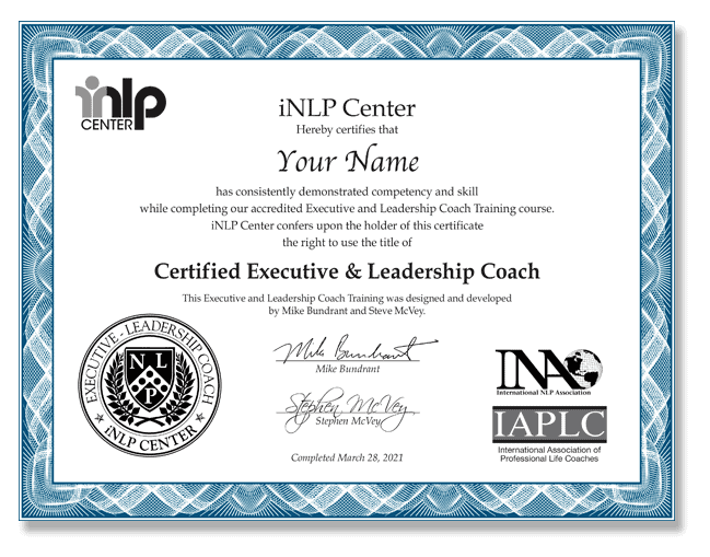 Executive coaching and leadership certification