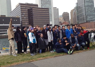 Teams from Cushing House, Green Academy, Charlestown High School, Inly and South Shore Youth Rowing