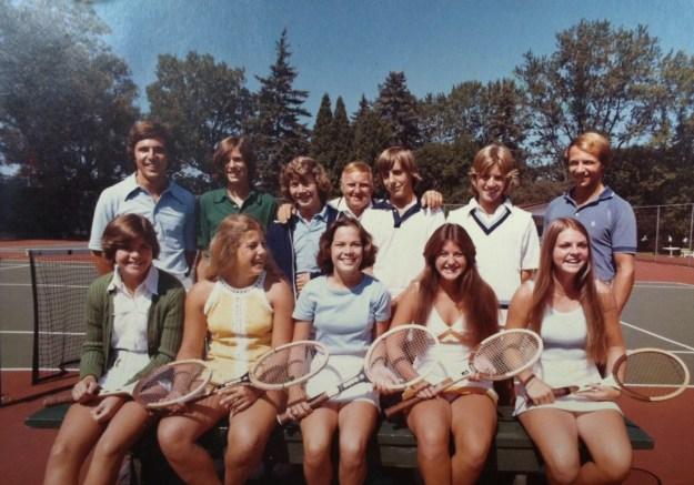 My high school tennis team.