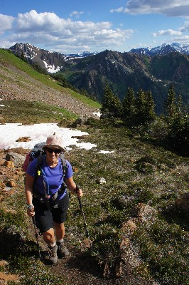 Hiking up towards Lower Twin Lake