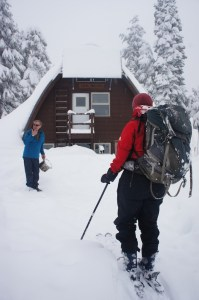 Arrival at the Elfin Lakes Hut