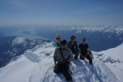 On the summit of Mt. Breakenridge