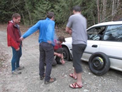 Flat tire...