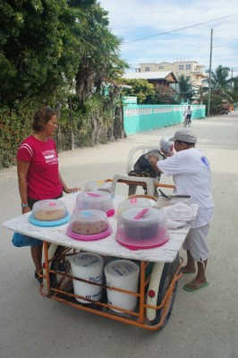 "The ""Cake Lady"" Caye Coulcar, Belize"