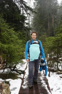 Hiking up Dog Mountain