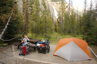 Our campsite at