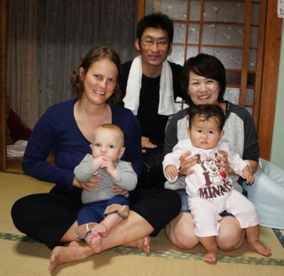 A family that invited us over for the night on the way to Nagasaki