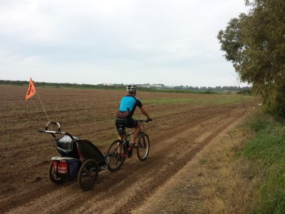 We cycled to Nitzanim Beach a few times - the trails were super muddy after the recent rains