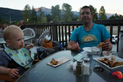 Dinner at One Mile Eatery, Pemberton