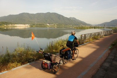 Cycling in Korea, with a seven month old