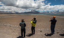 El majestuoso volcán Maipo.