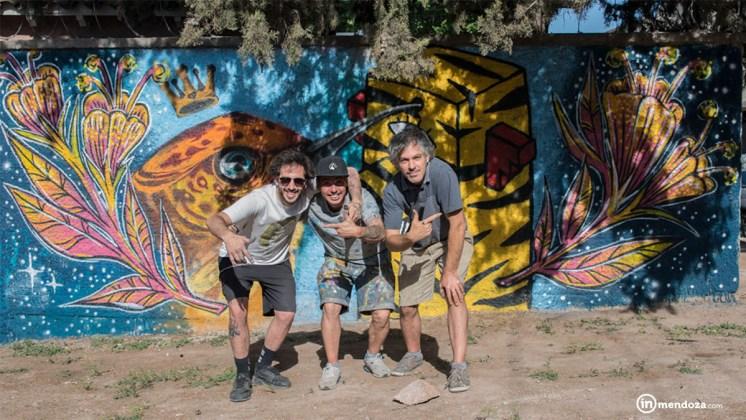 Gastón Castelli (Dötz), Natalio García (Cees) y Federico Calandria