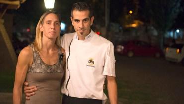 Mariano Martínez y su mujer