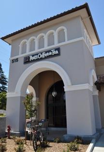 An imposing façade for the new Peet's