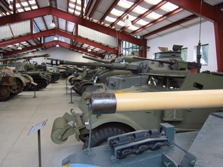 Multiple tanks at Military Vehicle Technology Foundation