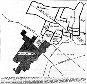 map of early Menlo Park and Palo Alto