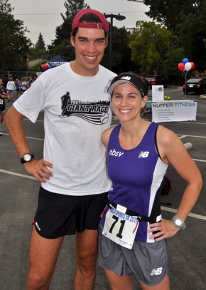 Chris Mocko and Amanda Packel, winners of Kids 4 Sports run