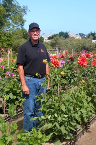 Mike Schlep at the Dahlia Farm