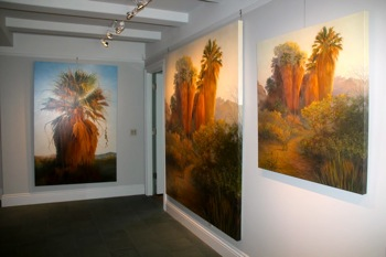 Palm paintings by Edith Bergstrom