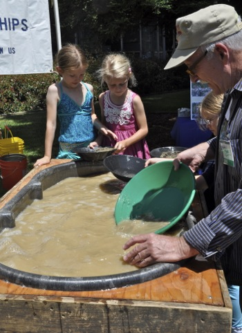 panning for gold at the triennial USGS open house 2012