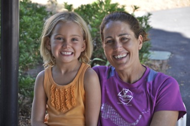 Julie Foudy and daughter