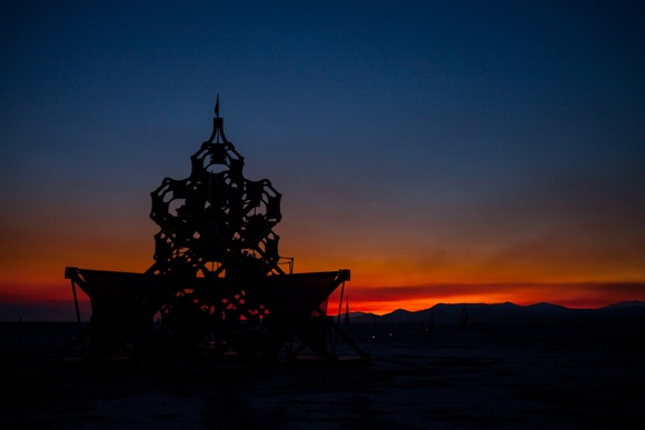 Sunrise at Burning Man by Scott R. Kline