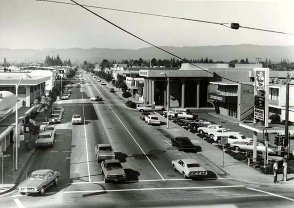 Santa Cruz Ave in the 1960s