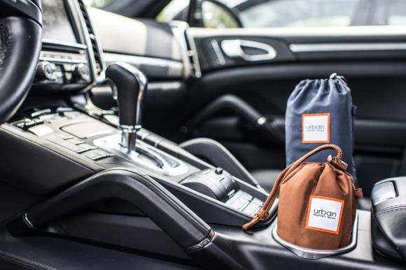 Urban bags in car
