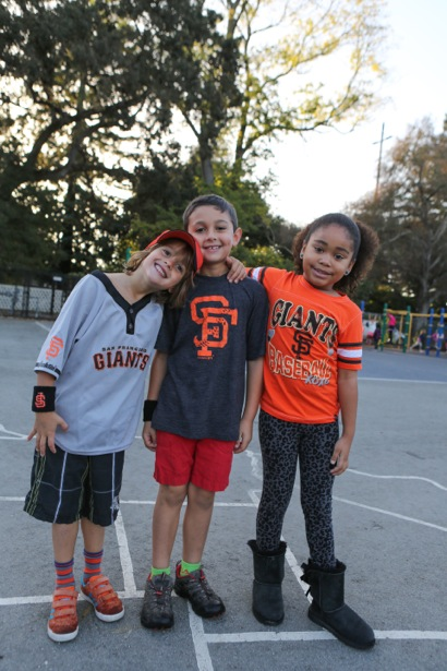 Trio shot_Laurel School Giants fans