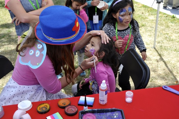 facepainting at Little Kids Rock event