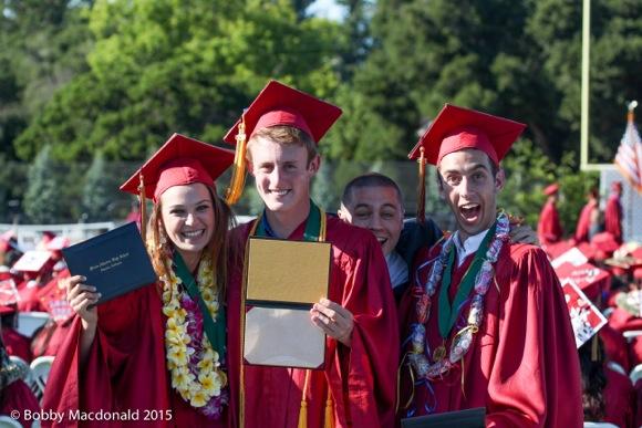 three happy M-A grads
