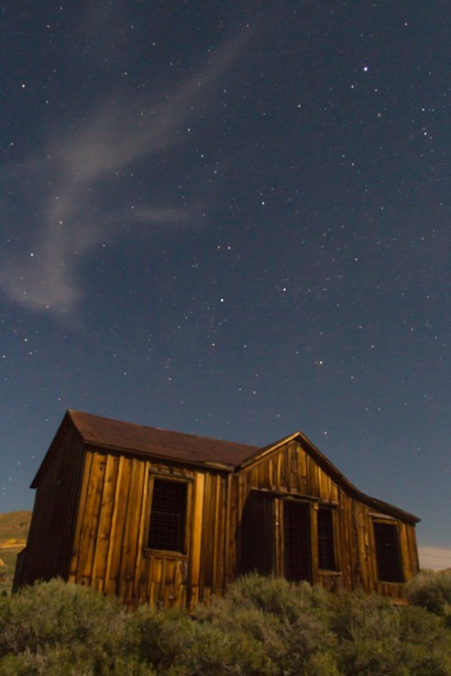 Night sky over Bodie