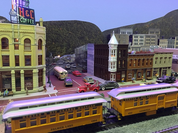 street scene at model railroad