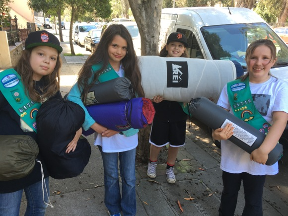 menlo park girl scout troop s work on bronze award